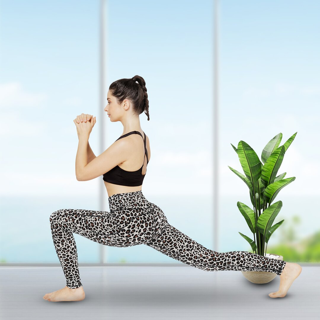 UUE High Waisted Leggings for Women with Pockets, Workout Leggings for Women Tummy Control